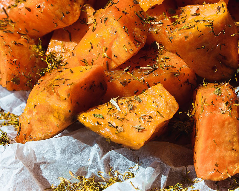 Antipasto di patate dolci