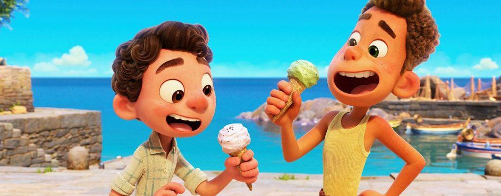 Luca e Alberto mangiano gelato