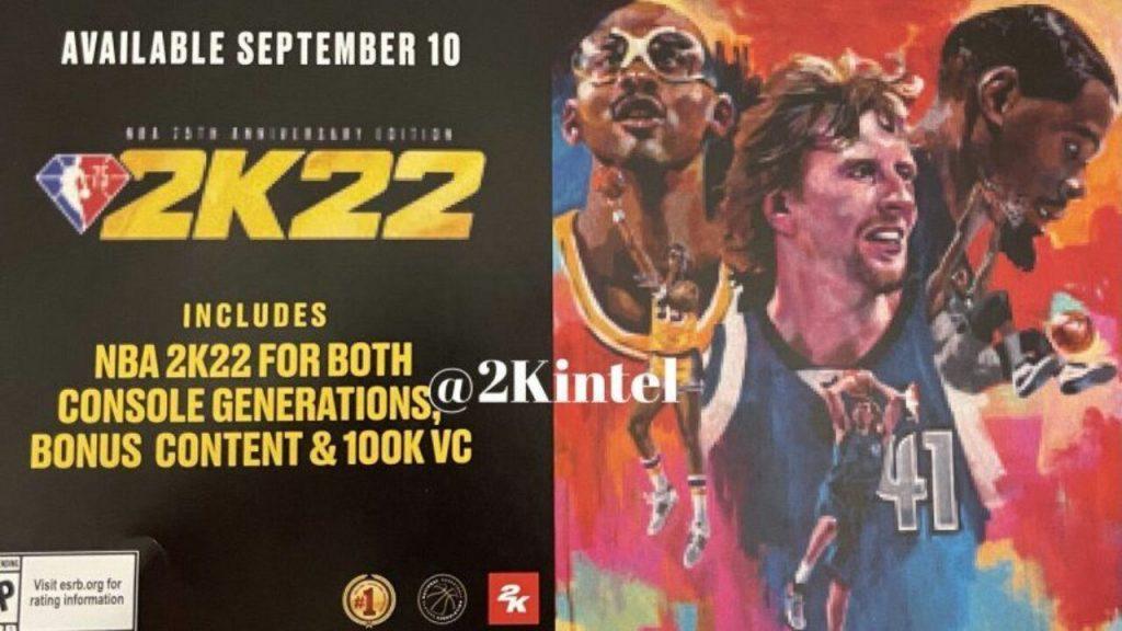 cover gioco NBA 2K22