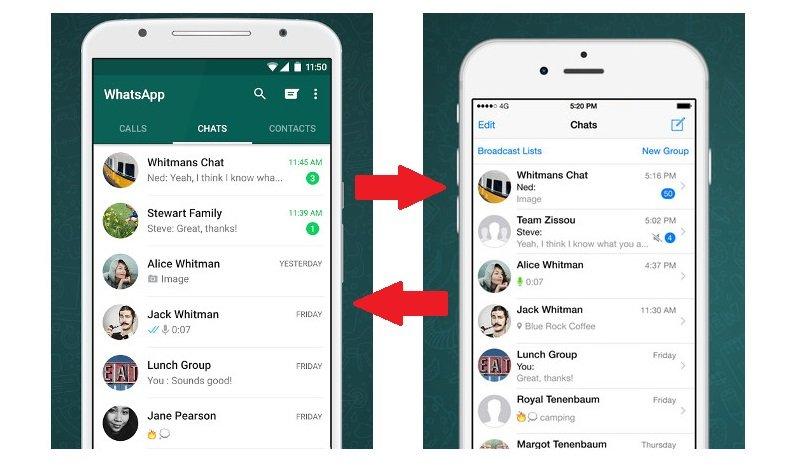 trasferimento chat da Android ad iOS