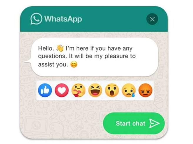 reaction whatsapp